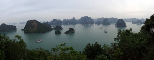widok na zatokę Ha Long